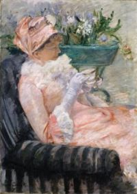 Mary Cassatt--The Cup of Tea, ca. 1880-81