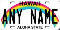 LICENSE PLATE  ~  HAWAII