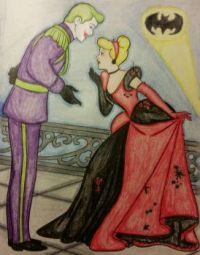 Cinderella and Prince as Harlequin and the Joker