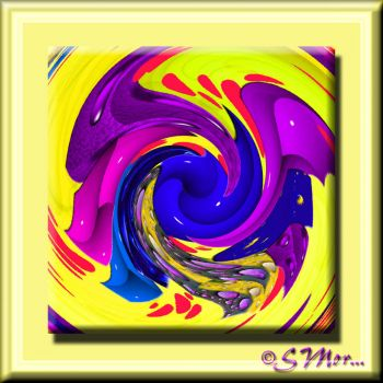 WEEKLY THEME:  Yellow Things.... Yellow Swirl With A Few Added Colors/Colours .....
