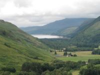 Looking down to the Loch