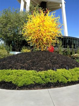 Glass tree at Seattle's Space Needle