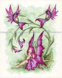 Wings of Whimsy hummingbird fairy