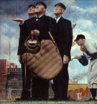 "Norman Rockwell's ""The Umpires"""