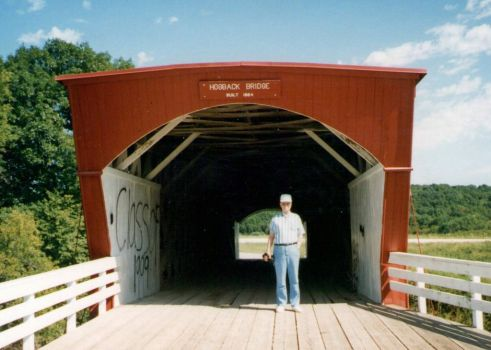 Yours truly at a Bridge of Madison County Iowa 1996
