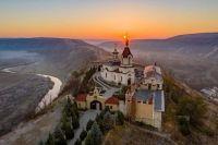 Sunrise at Old Orhei Monastery in Moldova