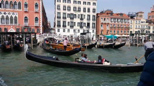 Rush hour in Venice