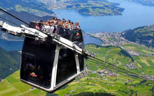 Cabiro Cable Car in Swiss Alps
