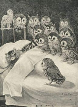 Cats' Nighmare, Louis Wain.  1890s.