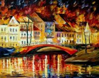 Red Bridge by Leonid Afremov