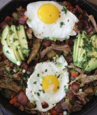 Paleo pulled pork bacon hash