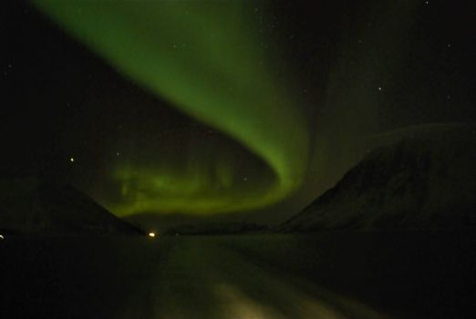 Northern Lights over the Barents Sea.