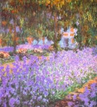 Art The Artists Garden by Claude Monet