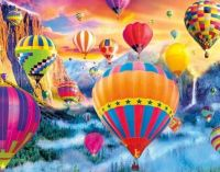 Let's ride on a hot air balloon...free...who wants to go??!!!