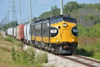 Keokuk Junction Railway Westbound Freight Train