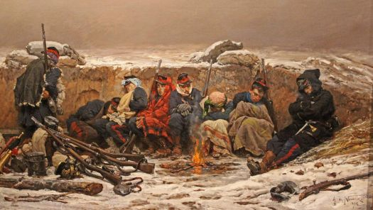 In the Trenches  by Alphonso Marie de Neuville at the Walters Art Museum, Baltimore