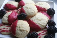 Whipped Shortbread w/Blackberry Icing