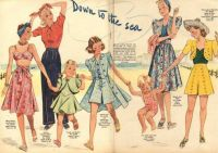 Down to the Sea 40s Fashions for Adults and Children