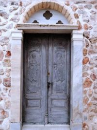 Old church door in Greece