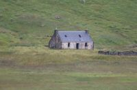 Isolated ruined house in Scotland