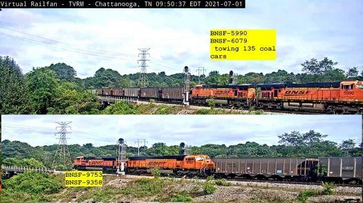 CHATT BNSF-5990, 6079, 9753, 9358 45-pc