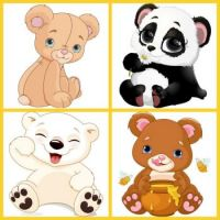 Bear Collage for Kids