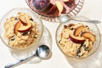 Peachy Brown Sugar Rice Pudding