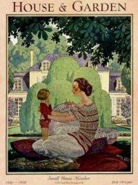 Vintage House & Garden Magazine Cover - July 1928
