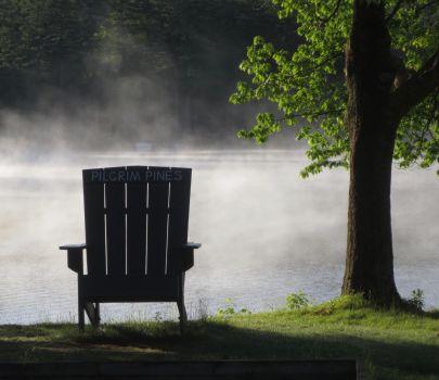 Misty New Hampshire lake