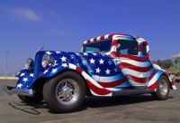 Red, white, and blue coupe...  bandit