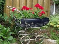 baby carriage planter
