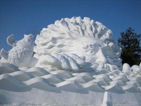 Quebec Winter Carnival 2012, Snow sculpture 4
