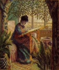 Claude Monet - Madame Monet Embroidering, 1875 (May17P05)