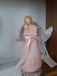 Guardian angel with child girl