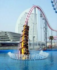 Vanishing Underwater Roller Coaster in Japan