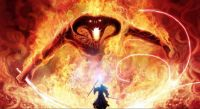 "Balrog and Gandalf in Moria ""You Shall Not Pass!"""