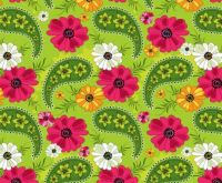Colorful Paisley Flowers