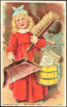 Themes Vintage ads - James Pyle's Pearline soap tradecard