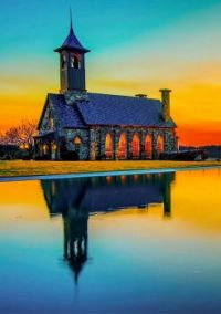 Chapel Reflections -- Ridgefield, Missouri....