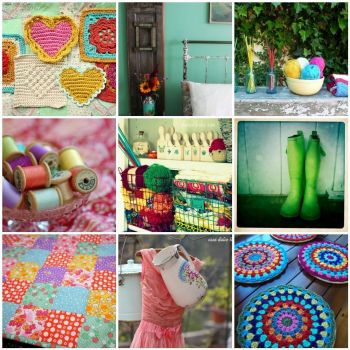 color pop mosaic by LolaNova on flickr