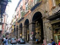 A walk through the ancient streets in Naples, Italy