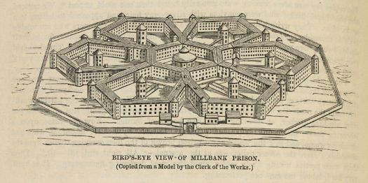 Birds-eye View of Millbank Prison