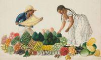 Fruit Market, Pancho (Francisco) Fierro, ca. 1850