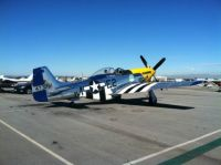 Miss Kandy P-51D rolling out for takeoff, Torrance CA
