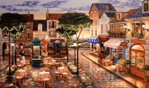 Evening on the Square-John O'Brien