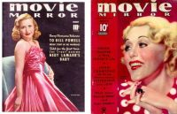 Movie Mirror Magazine ~ Priscilla Lane ~ March, 1940 and Grace Moore ~ December, 1935