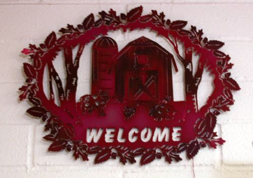 Welcome Sign for sale at local store.