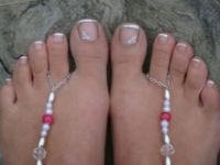 the ocean wedding...bride's cute toes