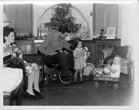 Me in My Wagon, Christmas 1942