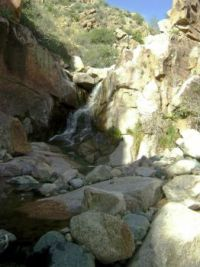 Rare desert waterfall